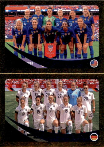 PANINI FIFA365 2019 STICKER 442 A B USA GERMANY WOMEN WORLD RANKING