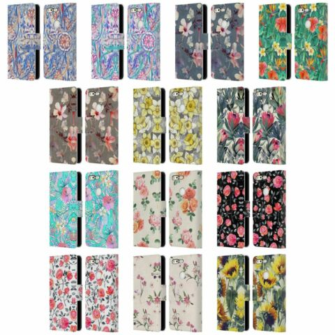OFFICIAL MICKLYN LE FEUVRE FLORALS LEATHER BOOK WALLET CASE FOR GOOGLE PHONES