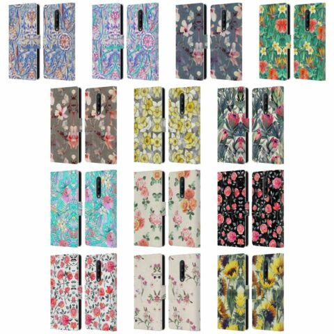 OFFICIAL MICKLYN LE FEUVRE FLORALS LEATHER BOOK CASE FOR BLACKBERRY ONEPLUS