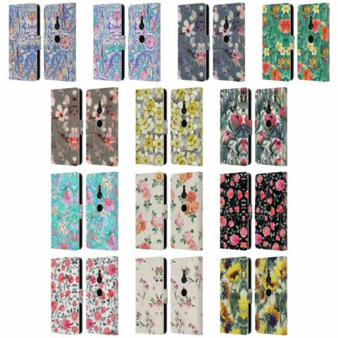 OFFICIAL MICKLYN LE FEUVRE FLORALS LEATHER BOOK WALLET CASE FOR SONY PHONES 1