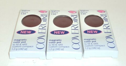 3 COVERGIRL LIPPENFARBE MAGNETISCH FARBE TOPF LIEBLING 130