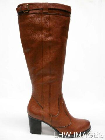 NEU IN BOX NATURALIZER DAMARIS LEDER SCHICK KLEID KNIEHOHE STIEFEL SZ 9 ROSTIGE