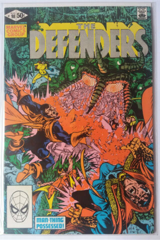 THE DEFENDERS NR 98 MARVEL COMICS 1981 DR STRANGE NIGHTHAWK AVENGERS