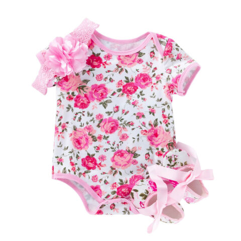 BABYKLEIDUNG SOMMER BABY M DCHEN OUTFITS KLEIDUNG OVERALL STIRNBAND