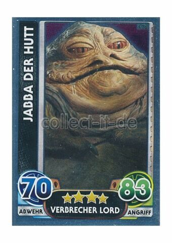 FORCE ATTAX MOVIE 4 176 JABBA DER HUTT VERBRECHER LORD SPIEGELFOLIENKARTEN