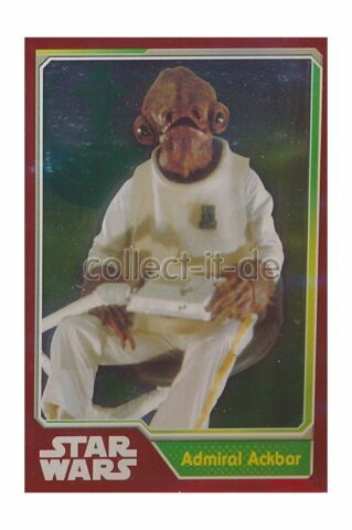 TOPPS JOURNEY TO STAR WARS NR 176 ADMIRAL ACKBAR