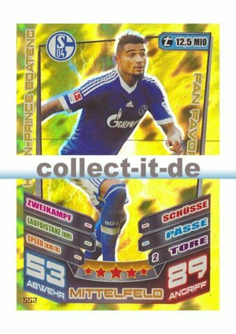 MATCH ATTAX EXTRA 13 14 552 KEVIN PRINCE BOATENG FC SCHALKE 04 FAN FAVORIT