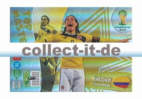 PANINI ADRENALYN XL WORLD CUP 2014 408 FALCAO TOP MASTER