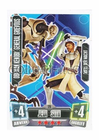 FORCE ATTAX SERIE 2 176 OBI WAN KENOBI GENERAL GRIEVIOUS JEDI SITH DUELL D MACHT