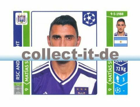 PANINI CHAMPIONS LEAGUE 2014 15 STICKER 324 MATIAS SUAREZ