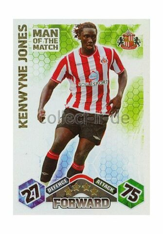 MATCH ATTAX PREMIER LEAGUE 09 10 408 KENWYNE JONES MAN OF THE MATCH