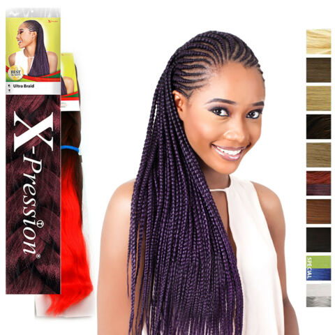 X PRESSION ULTRA BRAID HAIR EXTENSION ORIGINAL BRAIDS RASTAS CORNROW BULK