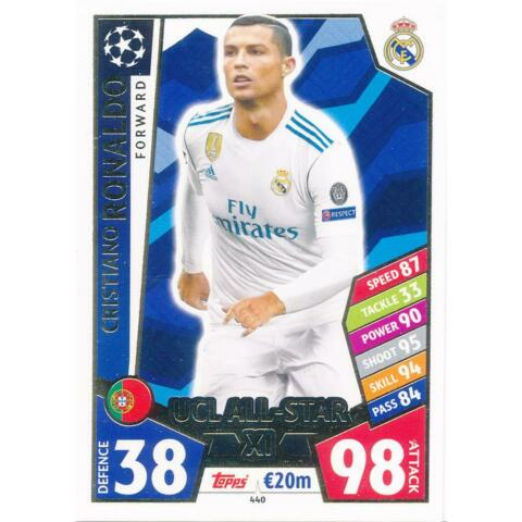 MATCH ATTAX CHAMPIONS LEAGUE 17 18 440 CRISTIANO RONALDO UCL ALL STAR