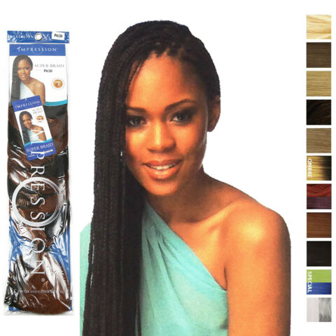 IMPRESSION SUPER BRAID HAIR EXTENSION ORIGINAL BRAIDS RASTAS CORNROW BULK