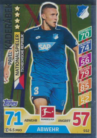 MATCH ATTAX EXTRA 17 18 552 PAVEL KADERABEK NATIONALSPIELER