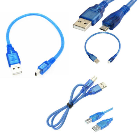 30CM USB 2 0 A MALE TO TYPE B PLUG USB MICRO USB 5 PIN MALE DATA CHARGE CABLE