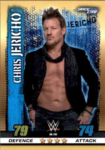 WWE SLAM ATTAX 10TH EDITION NR 142 CHRIS JERICHO SMACKDOWN LIVE