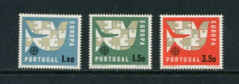 EUROPA V GEL PORTUGAL 1963 SET MIT 3 SC 916 8 MNH C436