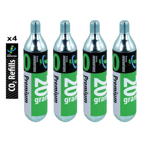 GENUINE INNOVATIONS 4 X FAT THREADED 20G CO2 BIKE CYCLING TYRE PUMP CARTRIDGES