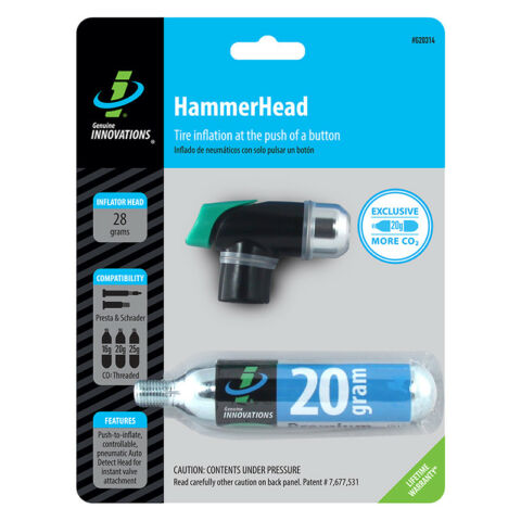 GENUINE INNOVATIONS HAMMERHAI PUMPE CO2 DRUCKTASTE MINIW 20G PATRONE