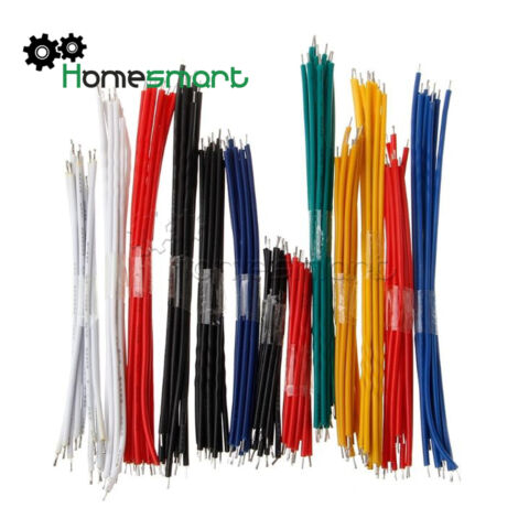 130PCS 13 VALUE 24AWG BREADBOARD CABLE JUMPER WIRE DOUBLE TINNED KITAHS