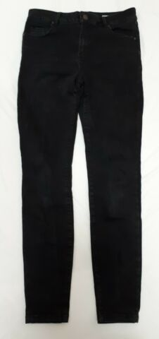 REVIEW STRETCH HOSE JEANS SKINNY HIGH WAIST M DCHE DAME SCHWARZ M 38 164 176 TOP