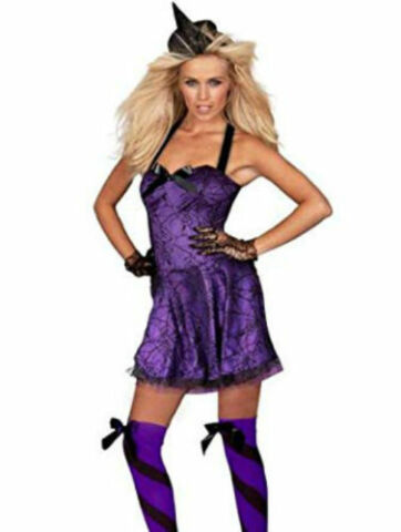 ANN SUMMERS BEWITCHED WITCH FANCY DRESS COSTUME OUTFIT HALLOWEEN PARTY SIZE 8