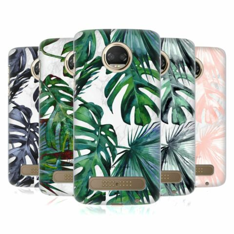 OFFICIAL NATURE MAGICK TROPICAL PALM LEAVES ON MARBLE CASE FOR MOTOROLA PHONES 1