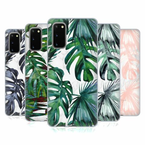 NATURE MAGICK TROPICAL PALM LEAVES ON MARBLE SOFT GEL CASE FOR SAMSUNG PHONES 1