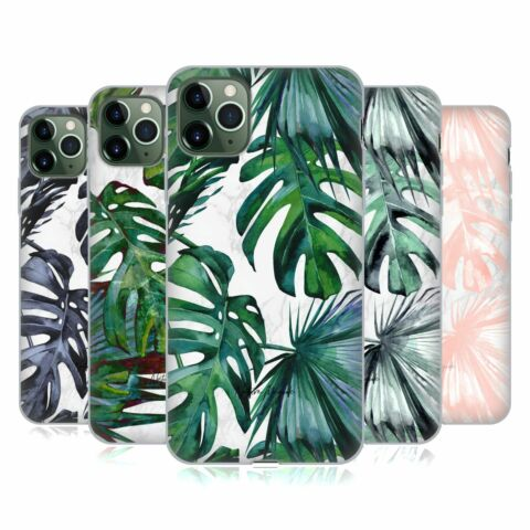 NATURE MAGICK TROPICAL PALM LEAVES ON MARBLE GEL H LLE F R APPLE IPHONE HANDYS