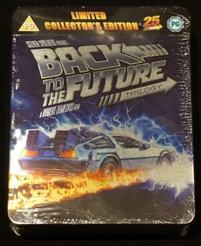 BACK TO THE FUTURE ZUR CK IN DIE ZUKUNFT TIN BOX TRILOGIE BLU RAY STEELBOOK OVP