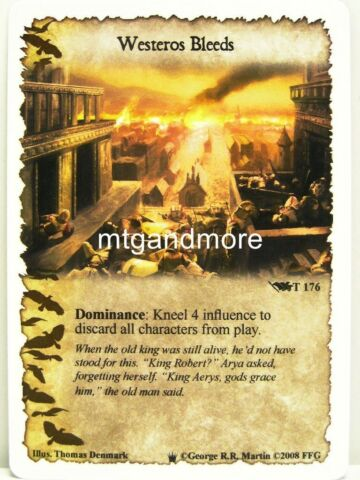 A GAME OF THRONES LCG 1X WESTEROS BLEEDS T176 WESTEROS DRAFT PACK
