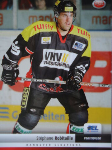 166 STEPHANE ROBITAILLE HANNOVER SCORPIONS DEL 2007 08