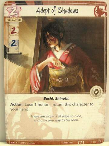 LEGEND OF THE FIVE RINGS LCG 1X 180 ADEPT OF SHADOWS BASE SET
