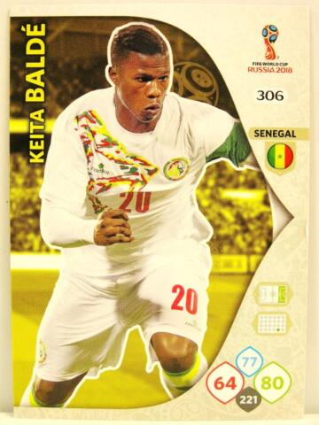 PANINI ADRENALYN XL WM 2018 306 KEITA BALDE SENEGAL