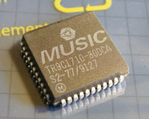 TR9C1710 80DCA GRAPHICS COLOR PALETTE RAMDAC MUSIC SEMICONDUCTOR