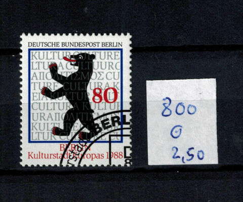 BRIEFMARKEN BERLIN 800 GESTEMPELT BERLINER B R