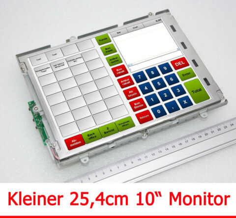KOMPAKTER 25CM 10 MONITOR KONTROLLMONITOR 800X600 TFT DISPLAY 230V 12V M77 MM