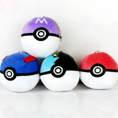 ANIME POCKET MONSTER POKEMON POKE BALL PLUSH TOY POKEBALL SOFT DOLL BABY GIFT