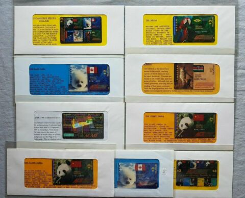 USA ACI PREPAID SET CALLING CARD9X TIERE IM FOLDER AB 1000EX