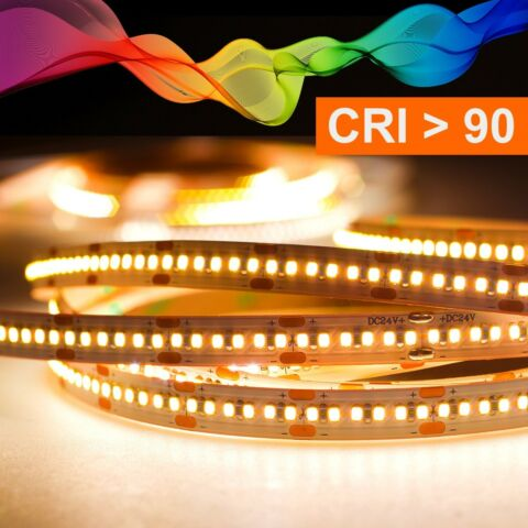 LED STRIP 2216 WARMWEI 2700K CRI 90 90W 5 METER 24V IP20 EEK A