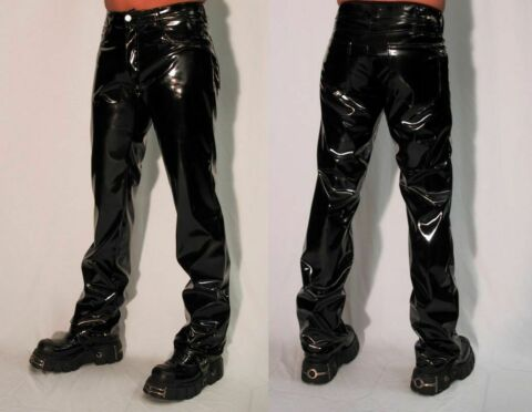 LACKHOSE 5 POCKET SCHWARZ GOTHIC CLUB PARTY FESTIVAL GR S XXL NEU