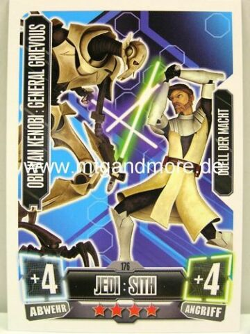FORCE ATTAX SERIE 2 OBI WAN GENERAL GRIEVOUS 176