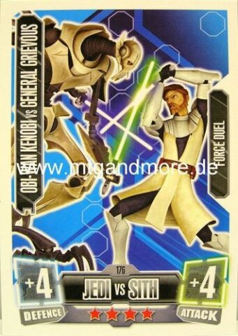 OBI WAN KENOBI VS GENERAL GRIEVOUS 176 FORCE ATTAX 2