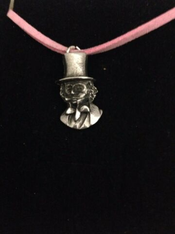 BRUNEL R192 ENGLISH PEWTER EMBLEM ON A PINK CORD NECKLACE HANDMADE
