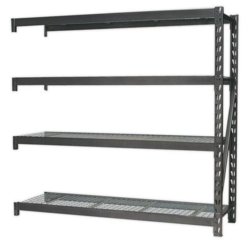 HEAVY DUTY RACKING EXTENSION PACK WITH 4 MESH SHELVES 800KG CAPACITY PER LEVEL A
