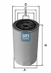 ORIGINAL UFI LFILTER VW FORD CITRO N FORD USA