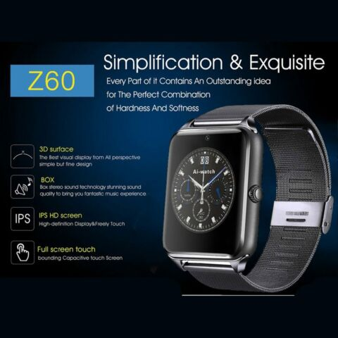 SMART WATCH EDELSTAHL BLUETOOTH SMARTPHONE ARMBAND UHR GEAR HANDY SMARTWATCH