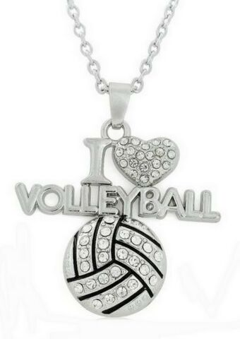 ANH NGER HALSKETTE BALL VOLLEYBALL I LOVE VOLLEYBALL