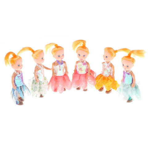 2PCS 10CM KELLY DOLL KIDS TOYS SOFT INTERACTIVE BABY DOLLS MINI DOLL FOR ZJP